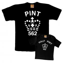 Gift of Pint & Half pint tshirt for father and new baby